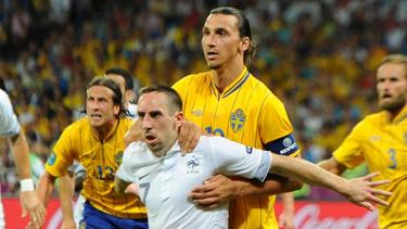 Oft sind sich Franck Ribéry (vorn) und Zlatan Ibrahimovic (dahinter) noch nicht in die Quere gekommen