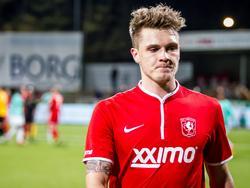 Nils Röseler oogt ontevreden na afloop van FC Dordrecht - Jong FC Twente. (21-3-2014)
