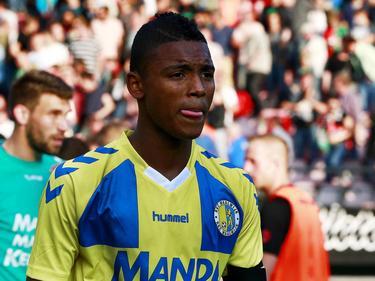 Alvin Fortes in de verloren wedstrijd van RKC Waalwijk tegen NEC in de Jupiler League. (13-09-14)