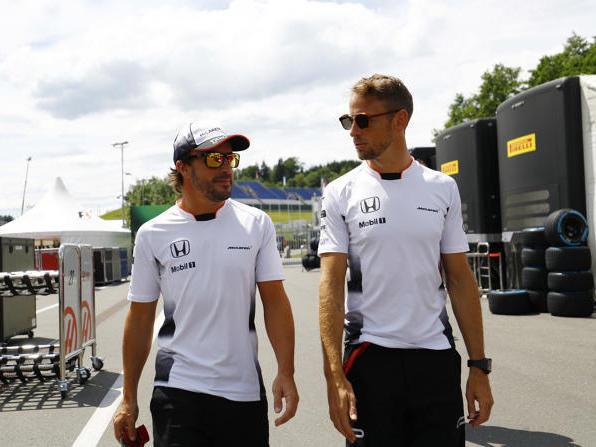 2015 und 2016 waren Alonso (l.) & Button Teamkollegen bei McLaren