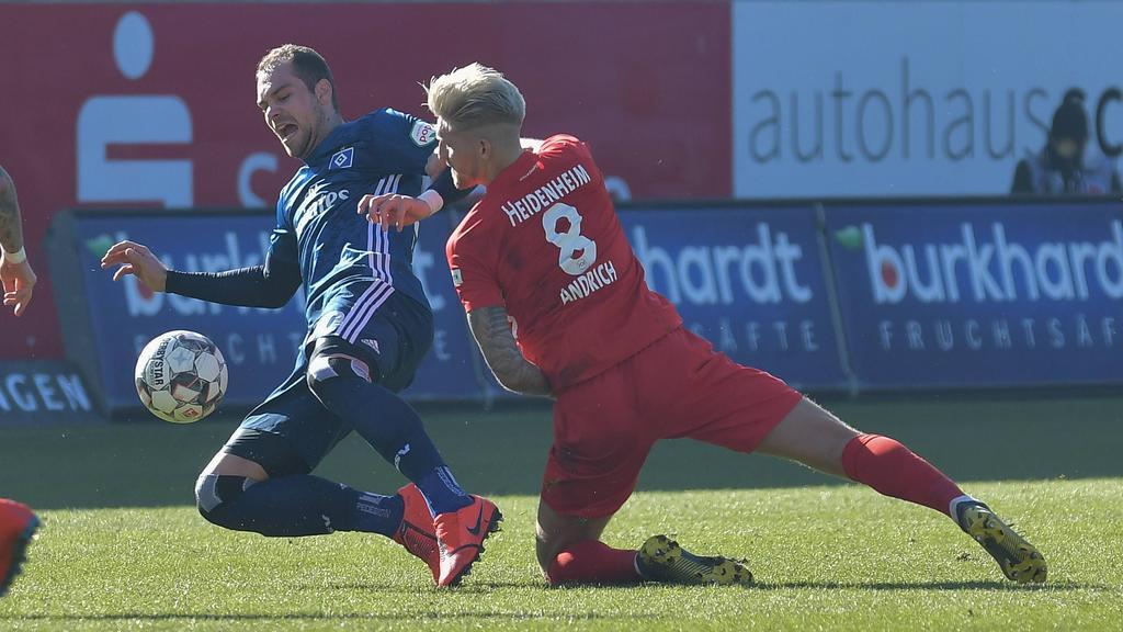 HSV und 1. FC Heidenheim teilen die Punkte
