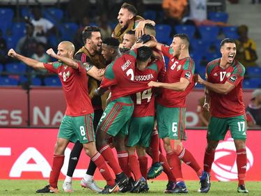 Marokko bejubelt den Sieg gegen die Elfenbeinküste