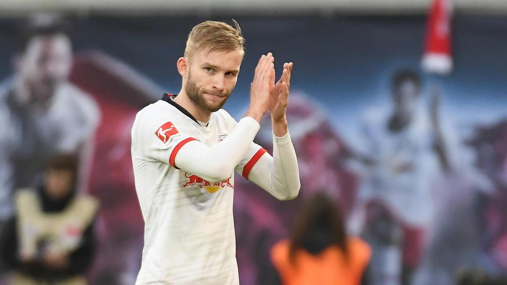 Hat seinen Vertrag bei RB Leipzig vorzeitig verlängert: Konrad Laimer