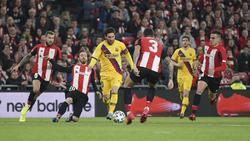 Bitteres Pokal-Aus für Lionel Messi (3.v.l.) und den FC Barcelona