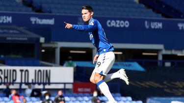James Rodríguez erzielte einen Treffer und bereitete ein Tor für den FC Everton vor
