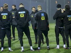 Franco Foda standen nur eine kleine Menge an Spielern beim Training zur Verfügung