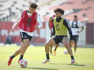 Imagen del último entrenamiento de Colo-Colo antes del debut.