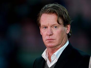 Mario Been werkt als analist tijdens het competitieduel NEC Nijmegen - sc Heerenveen. (18-09-2015)