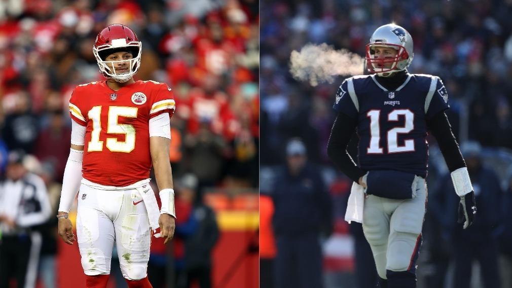 Patrick Mahomes (l.) und Tom Brady (r.) wollen in den Super Bowl