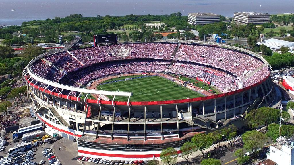 Imagen aérea del Monumental de Buenos Aires. (Foto: Getty)