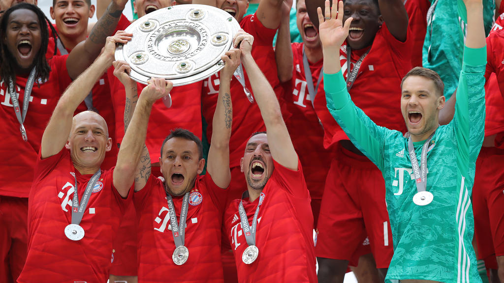 Robben (l.) und Ribéry feierten eine weitere Deutsche Meisterschaft