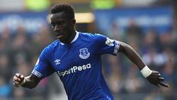 Gueye con la camiseta del Everton.