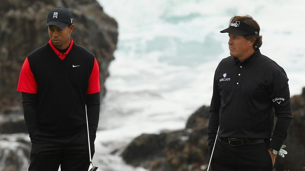 Tiger Woods und Phil Mickelson golfen für guten Zweck