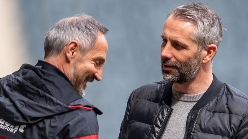 Adi Hütter (l.) und Marco Rose (r.) wechseln aufgrund von Ausstiegsklauseln