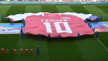 Christian Eriksen ha sido homenajeado en esta Euro tras su susto sobre el césped.