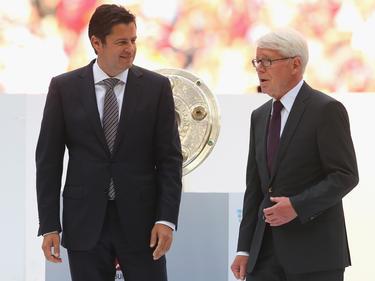 Seifert (l.) und Rauball (r.) loben die deutsche Olympia-Elf