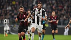 Gonzalo Higuaín soll vor dem Wechsel von Juventus Turin zum AC Mailand stehen