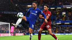 Hazard adelantó a los 'Blues' contra el líder Liverpool. (Foto: Getty)