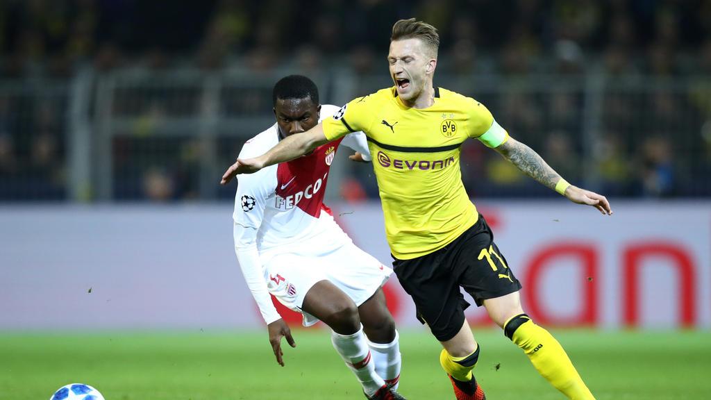Marco Reus holte den Elfmeter für den BVB gegen Monaco raus