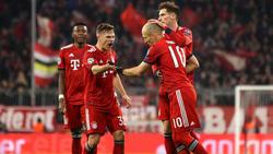Arjen Robben (r.) traf doppelt für den FC Bayern