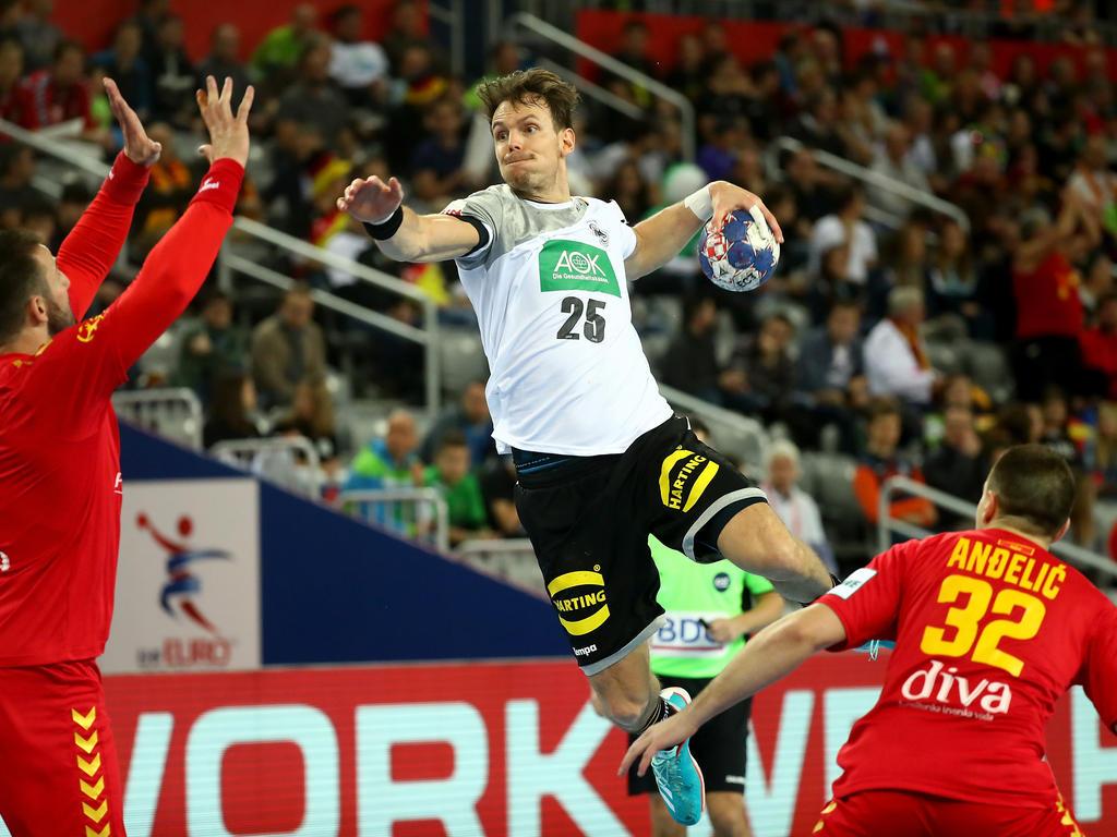 Kai Häfner und das DHB-Team setzen sich souverän gegen Montenegro durch