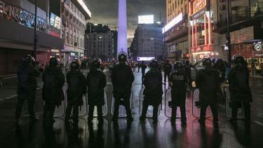 Viel Polizei am Rande von Argentiniens Prestigeduell