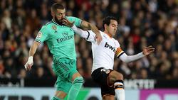 Karim Benzemas Treffer sicherte Real Madrid immerhin einen Punkt in Valencia