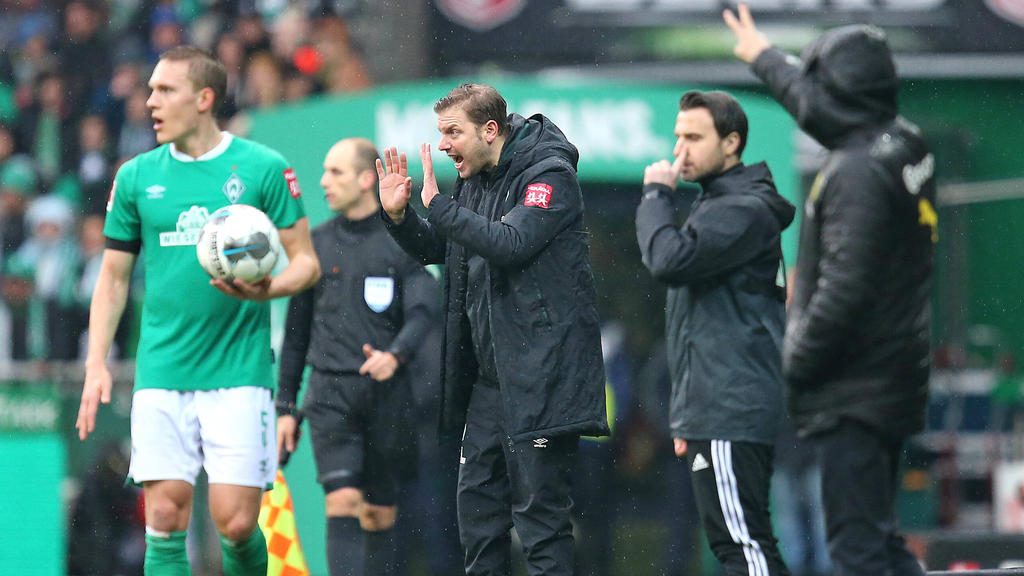 Florian Kohfeldt verlor mit Werder Bremen gegen den BVB