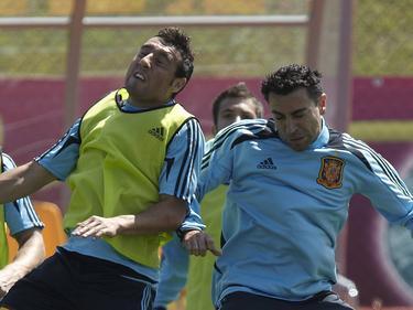 Cazorla y Xavi fueron compañeros en la selección española.