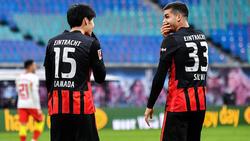 Daichi Kamada (l.) und André Silva (r.) könnten Eintracht Frankfurt im Sommer verlassen