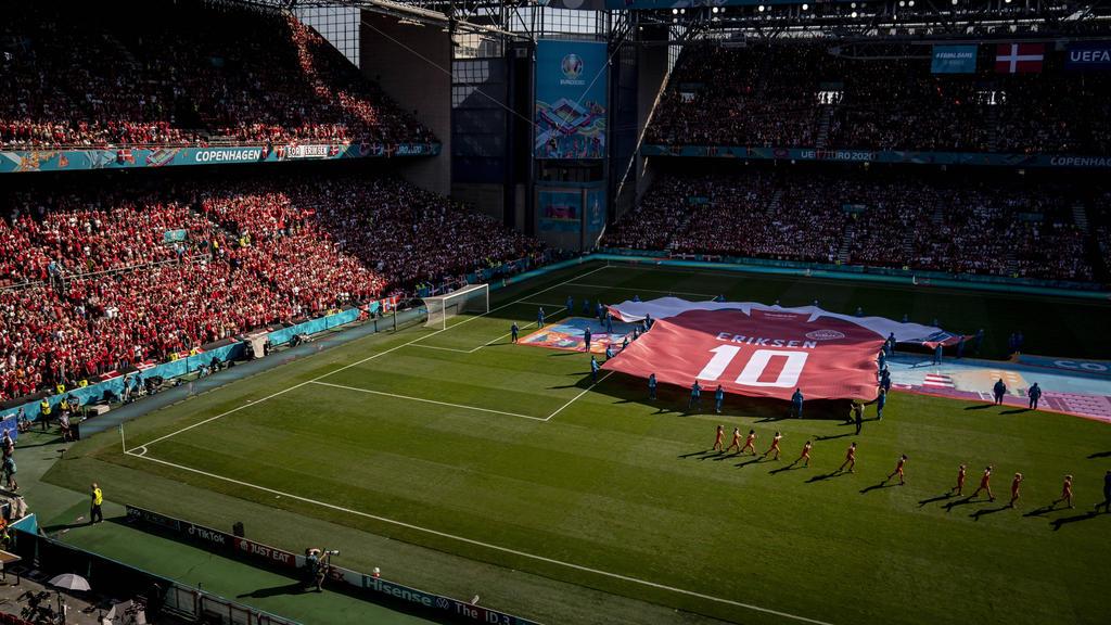 Christian Eriksen besuchte die dänische Nationalmannschaft
