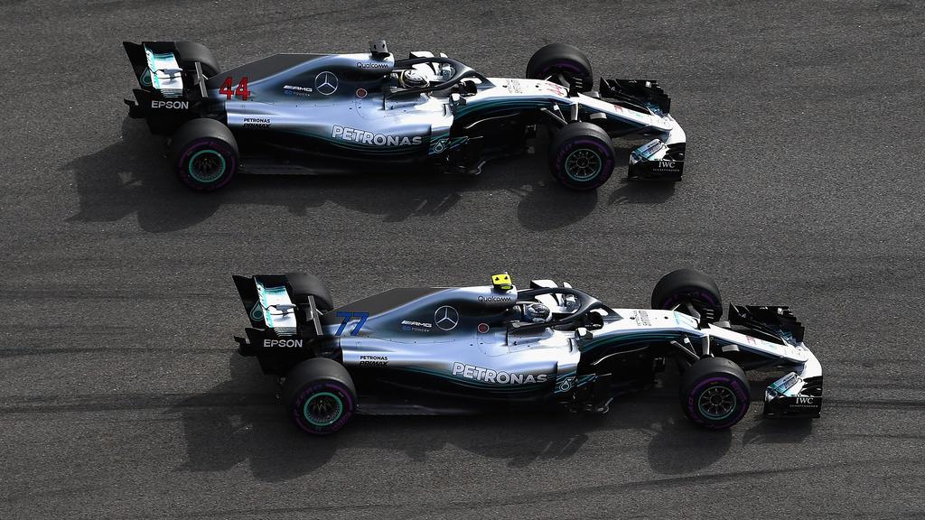 Lewis Hamilton und Valtteri Bottas sind auch in Brasilien die Benchmark