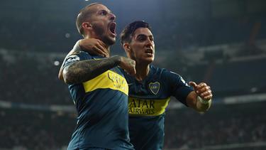 Benedetto hizo uno de los tres goles auriazules. (Foto: Getty)