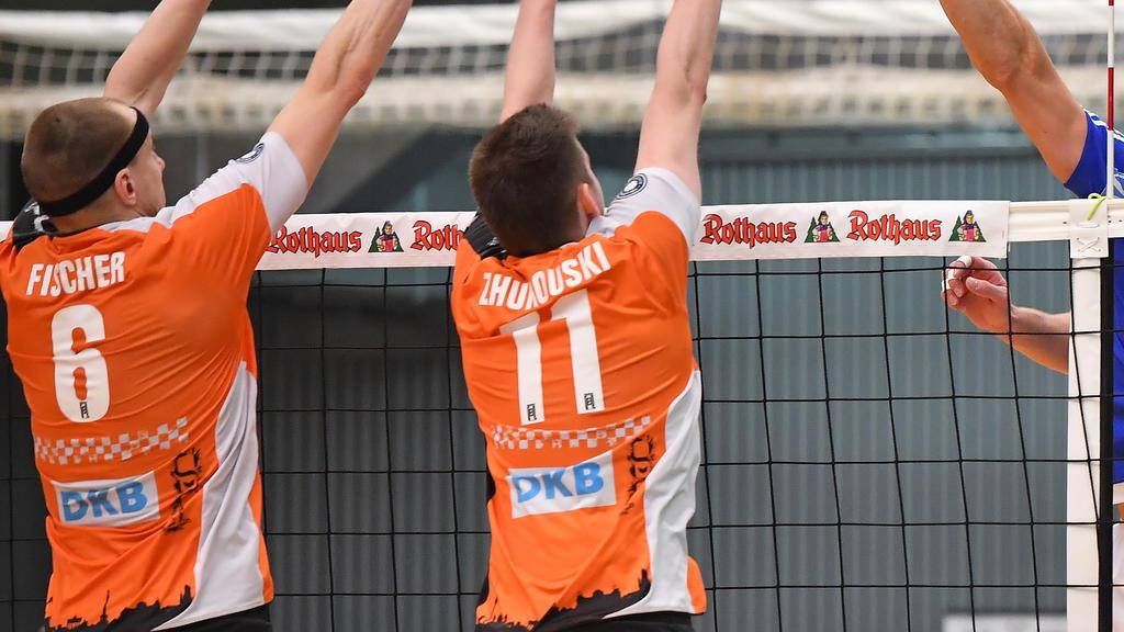 Die Berlin Recycling Volleys mussten sich der Champions League geschlagen geben