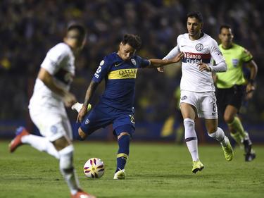 Zarate abrió el marcador en la Bombonera. (Foto: Getty)