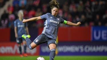 Melanie Leupolz traf für die Bayern im CL-Viertelfinale