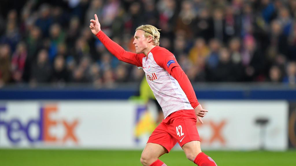 Xaver Schlager will künftig für den VfL Wolfsburg jubeln