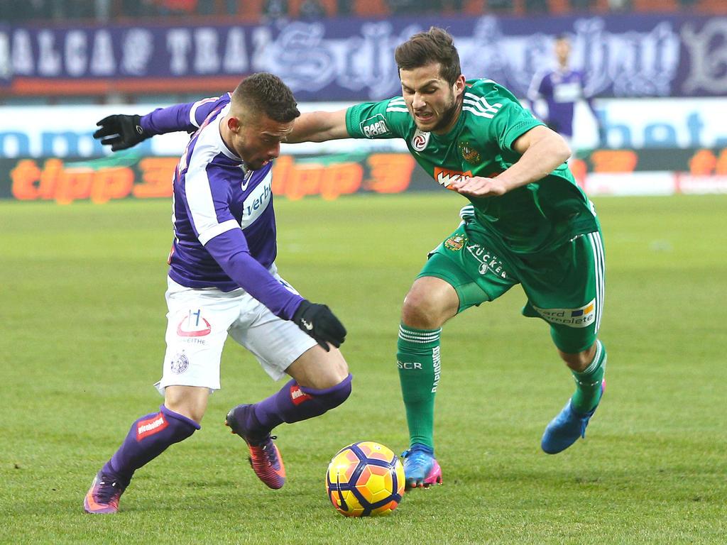 Im Wiener Derby zwischen Austria und Rapid gab es am Ende ein 1:1-Remis