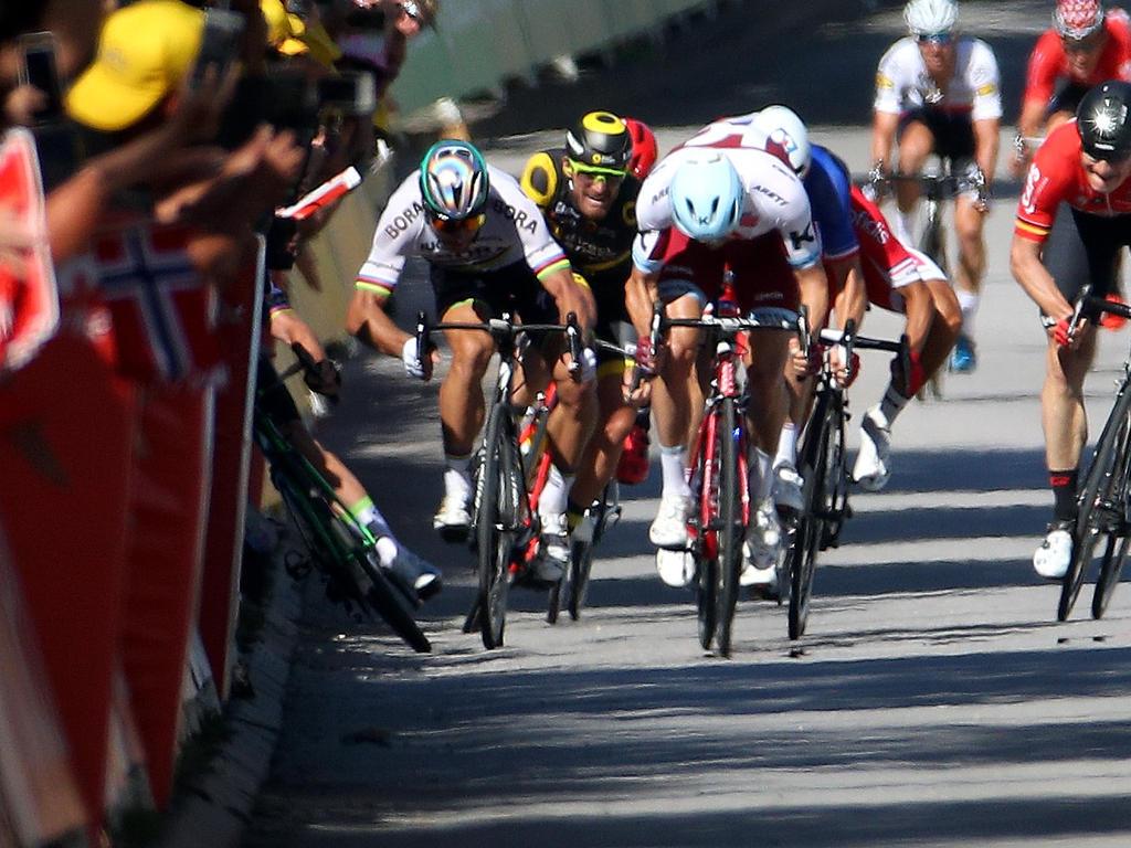 Peter Sagan stieß Mark Cavendish bei der Tour 2017 zur Seite