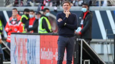 Ging auch mit sich kritisch insGericht:Eintracht-Coach Oliver Glasner