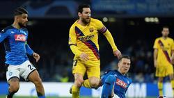 Barcelona und Neapel spielen vor leeren Rängen