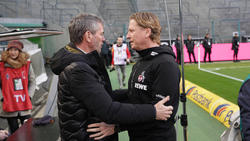 Friedhelm Funkel (l.) könnte Markus Gisdol beim 1. FC Köln beerben