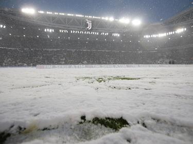 Imagen de la nevada caída sobre el estadio de la Juventus. (Foto: Getty)