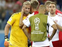 Der dänische Torwart Kasper Schmeichel hielt zwei Elfmeter und schied trotzdem aus
