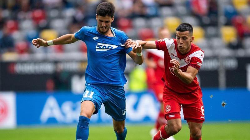 Florian Grillitsch (l.) zog sich gegen Düsseldorf eine Schulterprellung zu