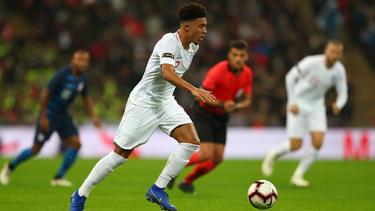 Jadon Sancho gehört zum Kader der englischen Fußball-Nationalmannschaft für die ersten EM-Qualifikationsspiele