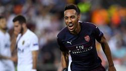 Pierre-Emerick Aubameyang kann mit den Gunners in dieser Saison die Europa League gewinnen