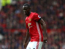 Eric Bailly in actie tijdens het competitieduel Manchester United - West Bromwich Albion (01-04-2017).