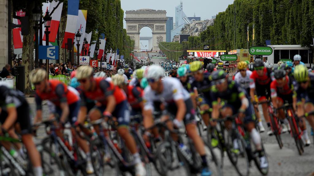 Die Tour endet traditionell auf dem Champs-Élysées