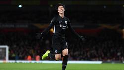 Daichi Kamada erzielte zwei Treffer für Eintracht Frankfurt